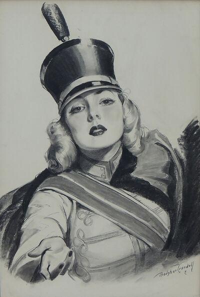 Bradshaw Crandell, 'Sweet Caporal Cigarettes 'Majorette' Illustration'