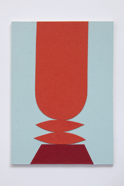 Sári Ember, 'Untitled (red totem)', 2018