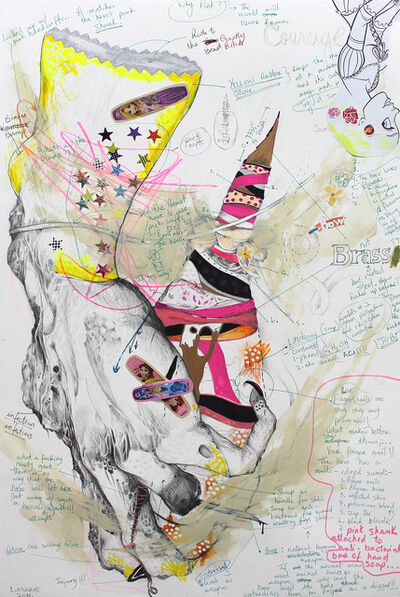 Lavar Munroe, 'Yellow Glove with Shank', 2014