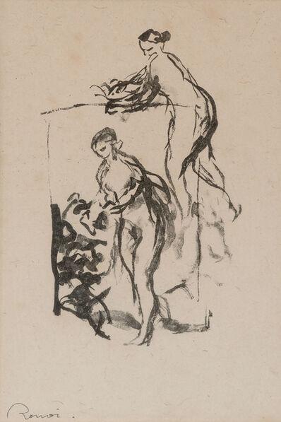 Pierre-Auguste Renoir, 'Femme Au Cep De Vigne, 3Eme Variante (Delteil 47)'