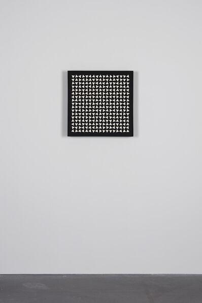 Gerhard Von Graevenitz, '29/425 Weisse Dreiecke auf schwarz', 1962