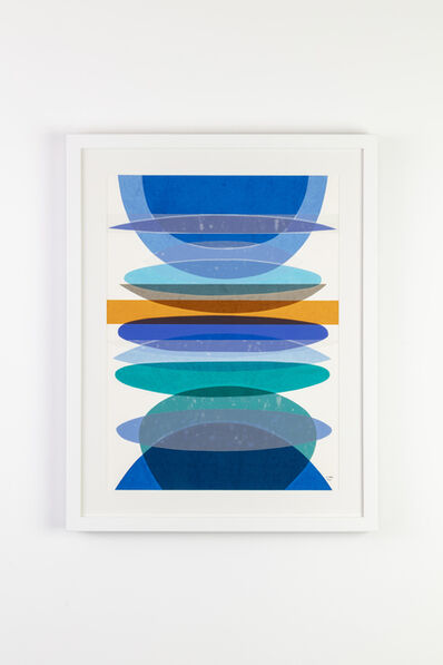 Jamie Harris, 'Infusion Collage - Segmented Arc: Opal and Blue', 2020