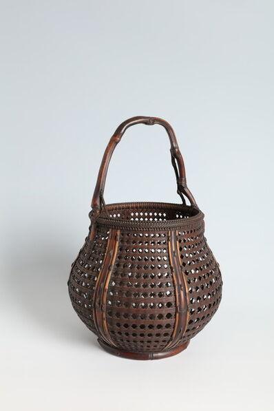 Maeda Chikubōsai I, 'Flower Basket with Natural Bamboo Handle (T-4130)', Showa era (1926–89), 1920s, 1930s