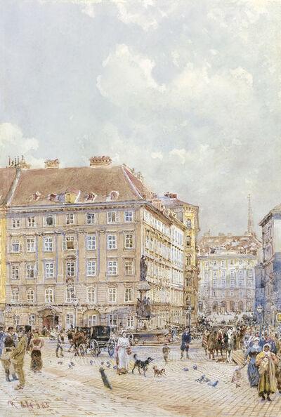 Rudolf von Alt, 'The Freyung in Vienna', 1885