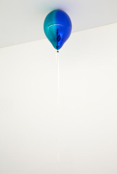 Jeppe Hein, 'Medium Turquoise and Dark Blue Mirror Balloon (vertical)', 2019
