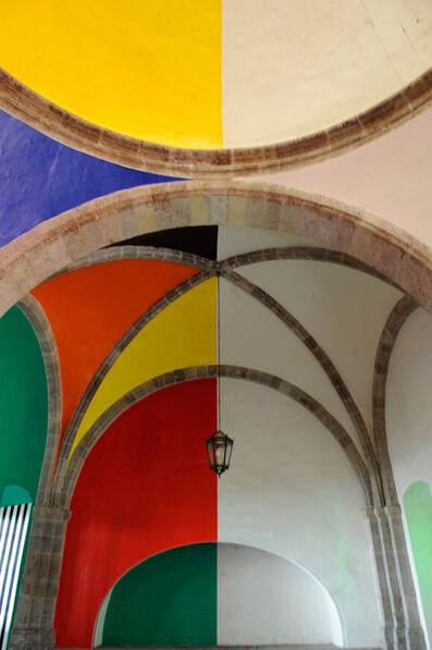 Daniel Buren, 'Photo souvenir: Daniel Buren, La Capilla, a todos los colores, recorda, travail in situ, Hopicio Cabanas, Guadalajara', 2014