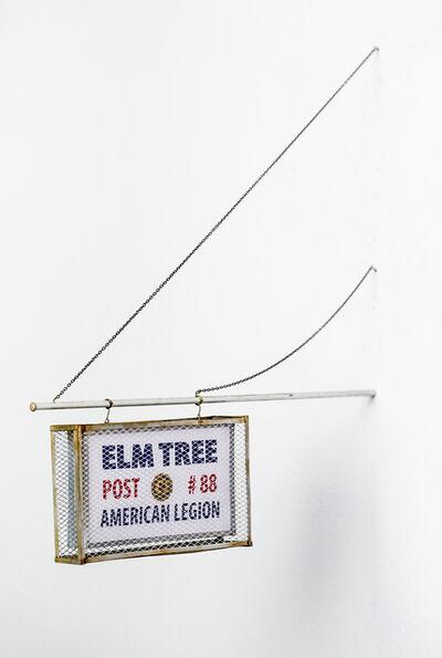 Drew Leshko, 'Elm Tree Post Sign', 2017
