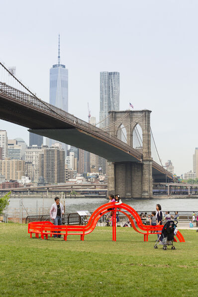 Jeppe Hein, 'Modified Social Bench NY #15', 2015