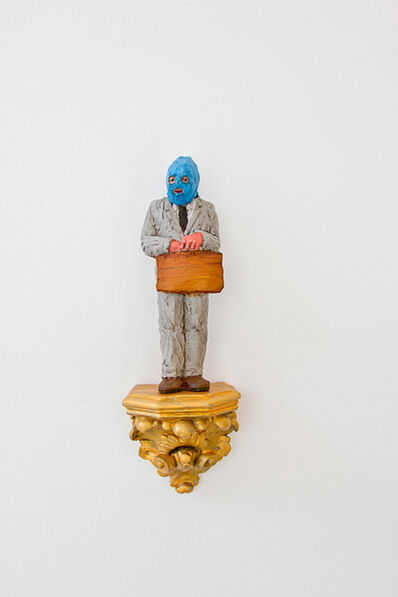 """Isaac Cordal, '""""business man""""', 2017"""