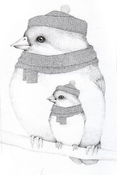 Jackie Case, 'Two Knitted Birds', 2017