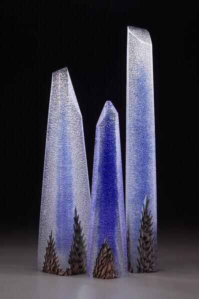Alex Gabriel Bernstein, 'Clear Blue Triptych', 2024