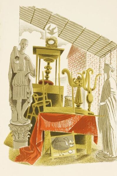 Eric Ravilious, ''SECOND-HAND FURNITURE AND EFFECTS'', c.1938