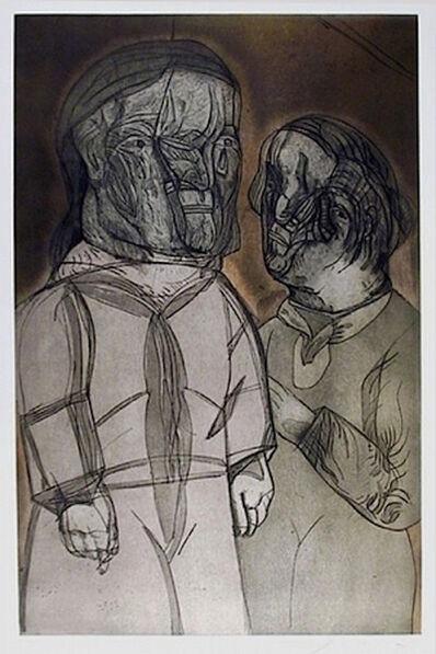 Jose Luis Cuevas, 'Justine Y El Marquez De Sade, from Intolerance Portfolio', 1989