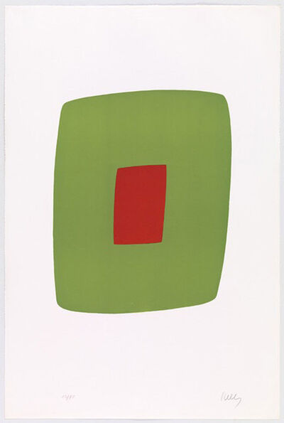 Ellsworth Kelly, 'Green with Red (Vert avec Rouge)', 1964-1965