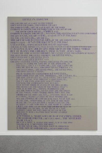 Lili Reynaud-Dewar, 'Interpretation Drawing, Little I's Love You', 2010
