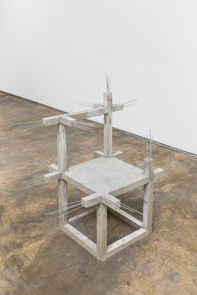 Felipe Arturo, 'Unfinished concrete chair #12', 2015