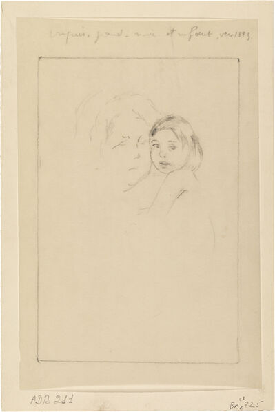 Mary Cassatt, 'Sketch: Grandmother and Child', 1893