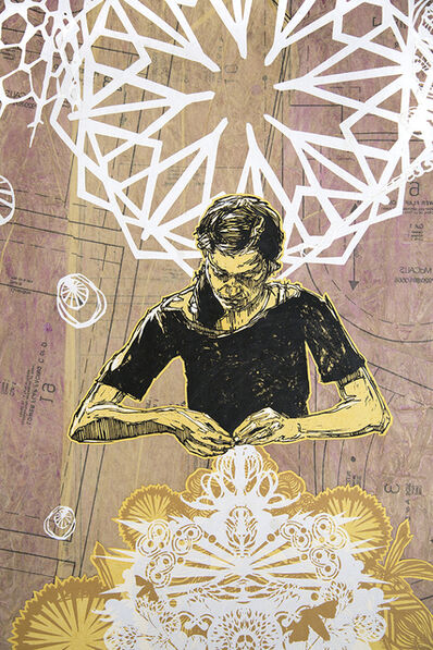 Swoon, 'Alison The Lacemaker ', 2016