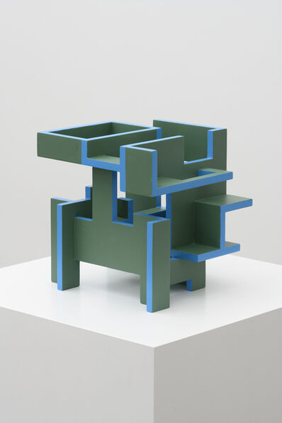 Krijn De Koning, 'Tumbling Work (Green/Blue)', 2020