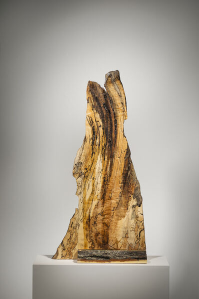 "Betty McGeehan, 'Minimal Wood Abstract Sculpture: ""Scarred'', 2015-18"