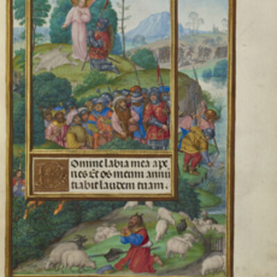 Master of James IV of Scotland, 'Scenes from the Life of Gideon and Moses and the Burning Bush', 1510-1520