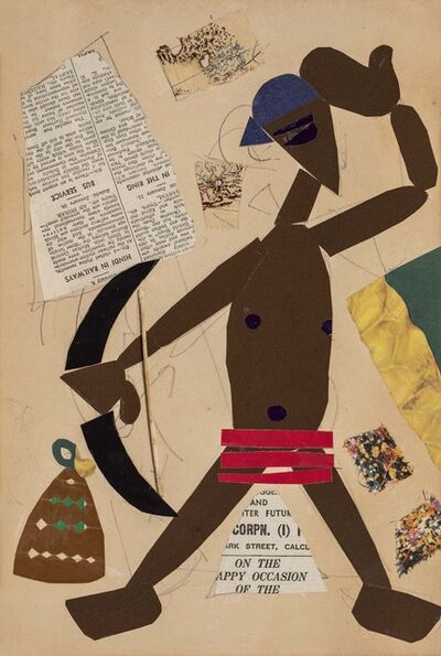 Benode Behari Mukherjee, 'Man with Stringed Bow'