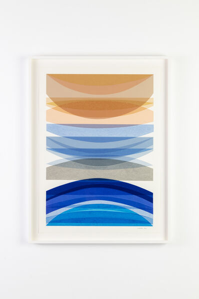 Jamie Harris, 'Infusion Collage - Resting Weave: Peach and Blue', 2020