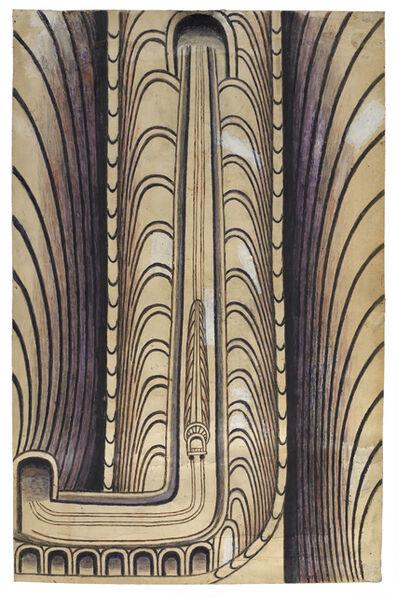 Martín Ramírez, 'Untitled, (Vertical Train with Tunnel)', ca. 1960-63