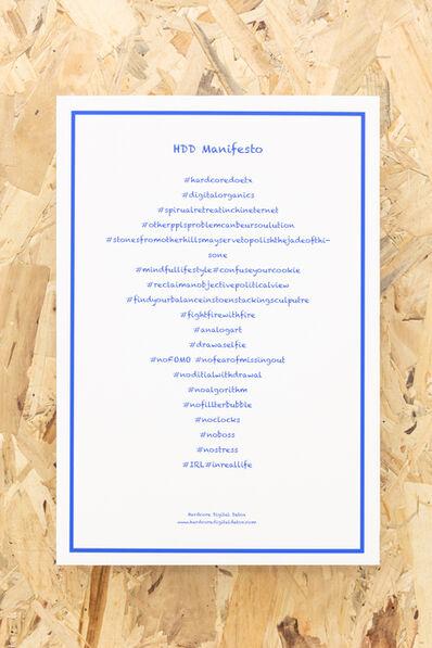 Miao Ying, 'HDD Manifesto', 2018