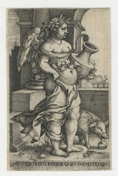 Georg Pencz, 'Gula [Gluttony], from The Seven Mortal Sins', ca. 1541