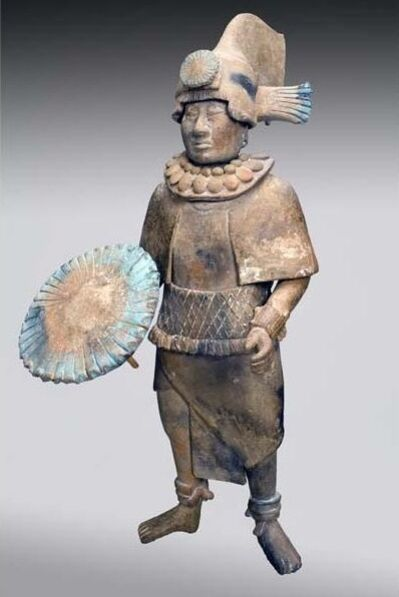 Unknown Artist, 'Standing Noble with Feather Shield', 700-900
