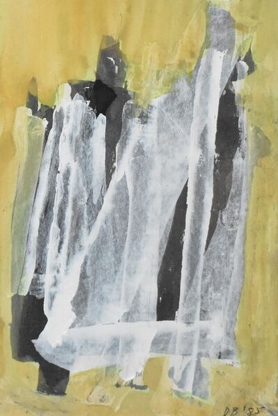 Dusti Bongé, 'Untitled (White, Black, and Yellow Composition)', 1985