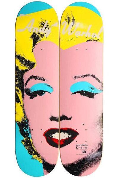 Andy Warhol, 'Andy Warhol Marilyn Skateboard Decks (diptych/set of two) ', ca. 2012