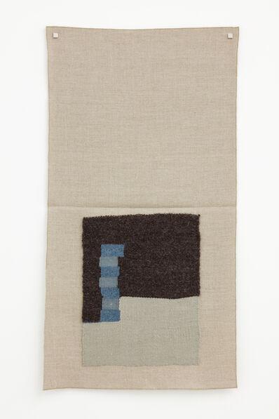 Helen Mirra, ' Undyed dark brown, light silver, light blue, lighter gray- blue', 2015