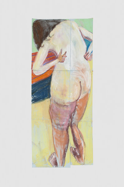 Chantal Joffe, 'Self Portrait from behind with Arms Bent Back', 2015