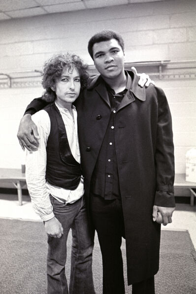 Ken Regan, 'Muhammad Ali and Bob Dylan, Madison Suare Garden, New York', 1975