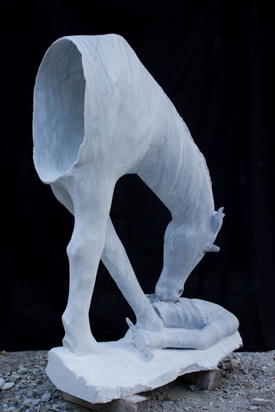 Marco Petrasch, 'unicorn & human', ca. 2018