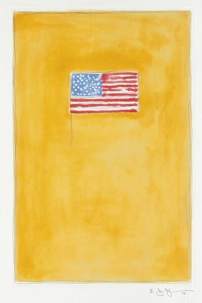 Jasper Johns, 'Flag on Orange', 1998