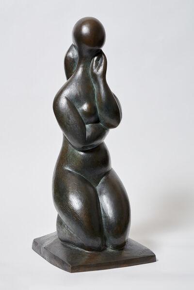 Baltasar Lobo, 'Pensive a genoux', 1977-1990