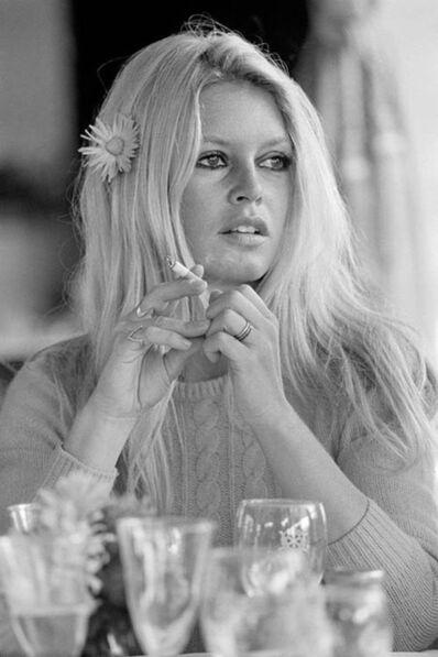 Terry O'Neill, ' Brigitte Bardot Cigarette Stare (Co-Signed Terry O'Neill and Brigitte Bardot)'