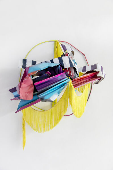 Nora Shields, 'Metal Painting (Yellow fringe)', 2015
