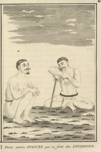 Bernard Picart, 'Another Two Yogis Who Cut Themselves', 1723-1743