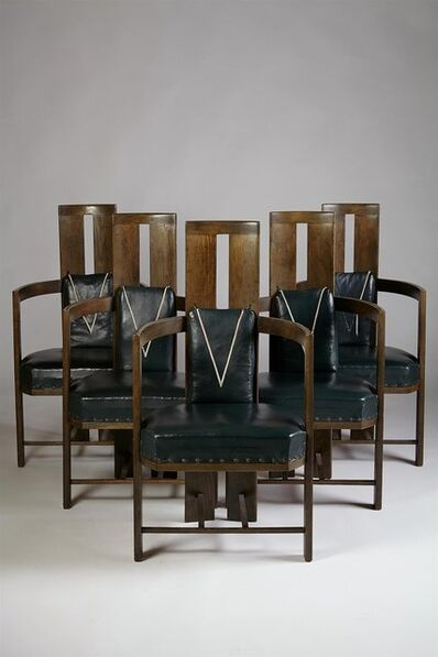 Eliel Saarinen, 'Set of dining chairs for Keirkner residence, Helsinki', 1907