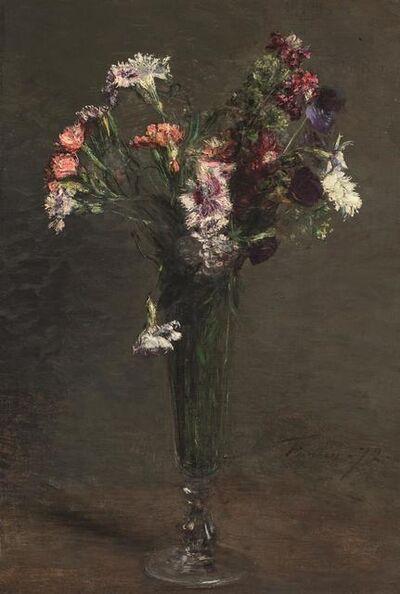 Henri Fantin-Latour, 'Oeillets dans une flûte à champagne', 1872