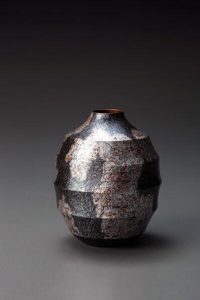 Sako Ryuhei, 'Mokume-gane Vase 04', 2015