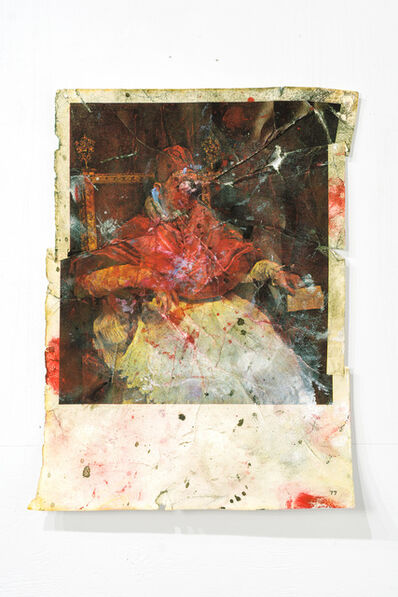 Zorawar Sidhu, 'Pope Innocent X, After Velásquez and Bacon', 2014