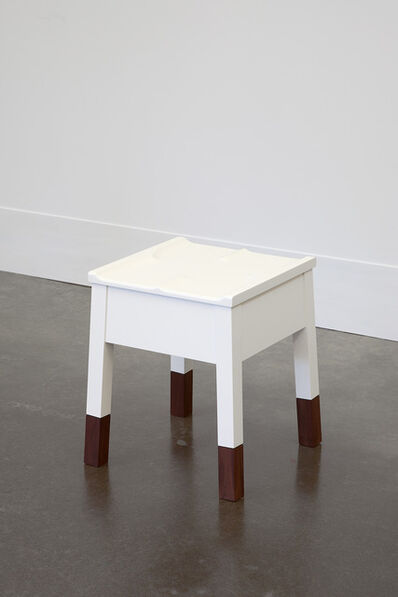 Roy McMakin, 'White Caudal Stool with Walnut Legs', 1989/2014