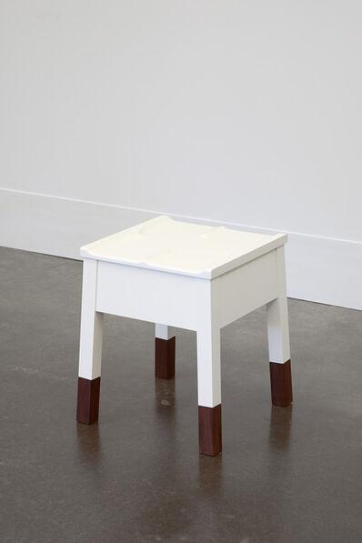 Roy McMakin, 'White Caudal Stool with Walnut Legs', 1989/2014