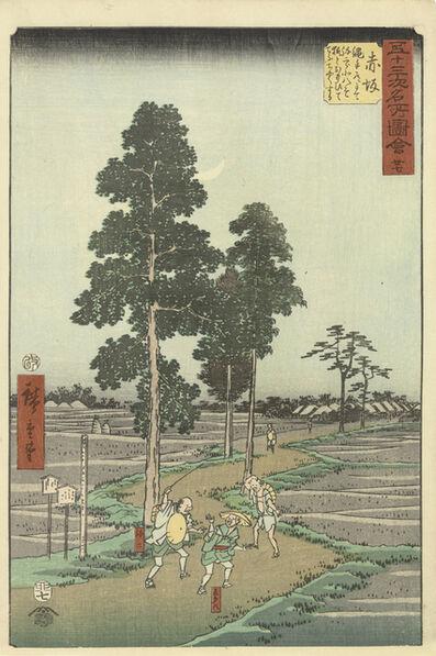 Utagawa Hiroshige (Andō Hiroshige), 'Akasaka', 1855