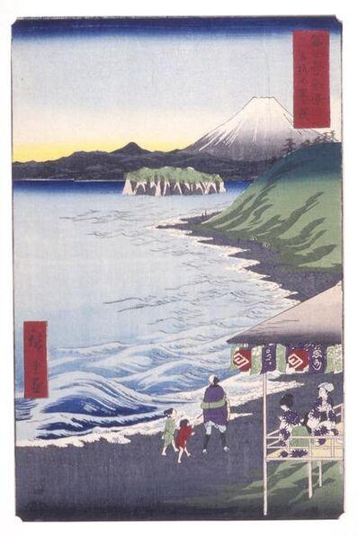 Utagawa Hiroshige (Andō Hiroshige), 'The Seven-ri Beach in Sagami Province (Sagami Shichirigahama)', 1858